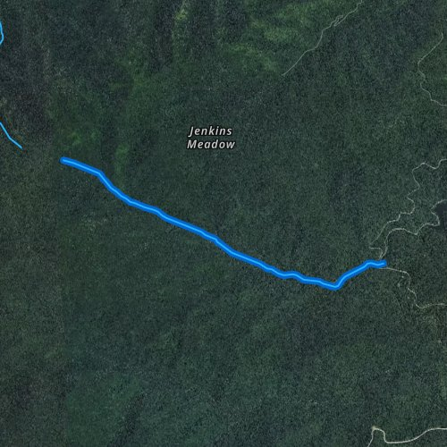 Fly fishing map for Little Santeetlah Creek, North Carolina