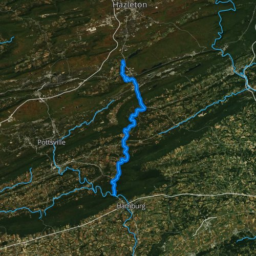 Fly fishing map for Little Schuylkill River, Pennsylvania