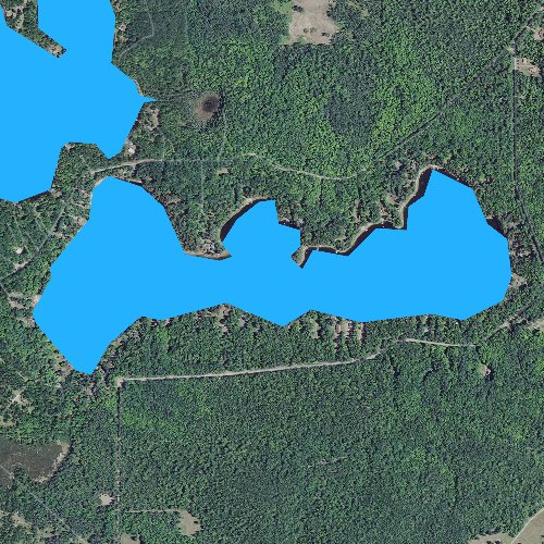 Fly fishing map for Little Shag Lake, Michigan