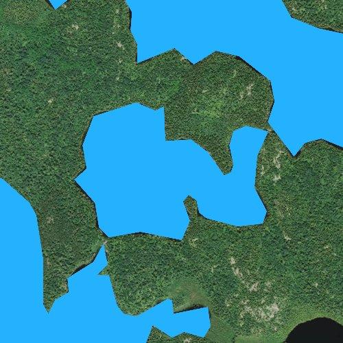 Fly fishing map for Little Shell Lake, Minnesota