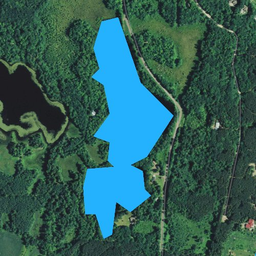 Fly fishing map for Little Silver Lake, Wisconsin