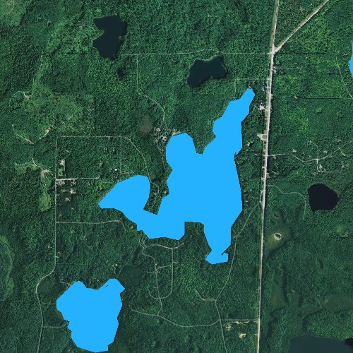 Fly fishing map for Little Spider Lake, Wisconsin