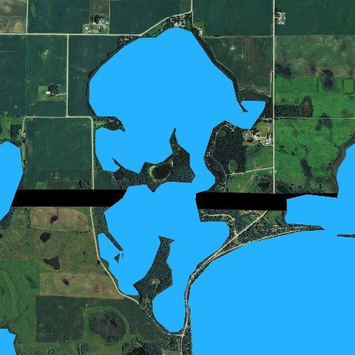 Fly fishing map for Little Spirit Lake, Minnesota