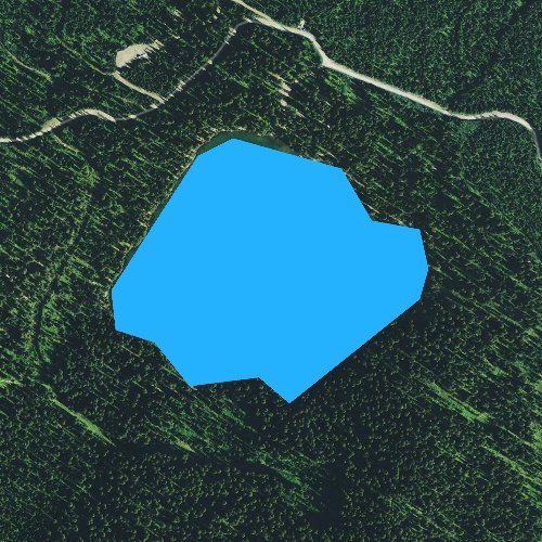 Fly fishing map for Little Therriault Lake, Montana