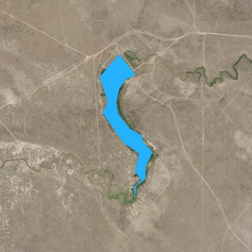Fly fishing map for Little Thunder Reservoir, Wyoming