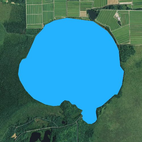 Fly fishing map for Little Trout Lake, Wisconsin