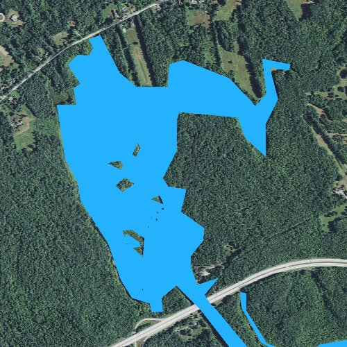 Fly fishing map for Little Turkey Pond, New Hampshire