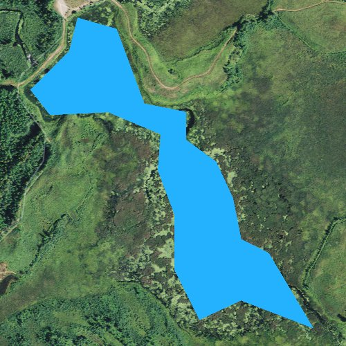 Fly fishing map for Little Turtle Flowage, Wisconsin