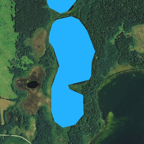 Fly fishing map for Little Twin Lake, Minnesota