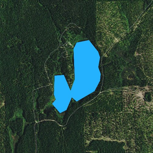 Fly fishing map for Little Twin Lakes, Washington