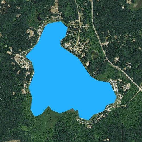 Fly fishing map for Little Whitefish Lake, Michigan