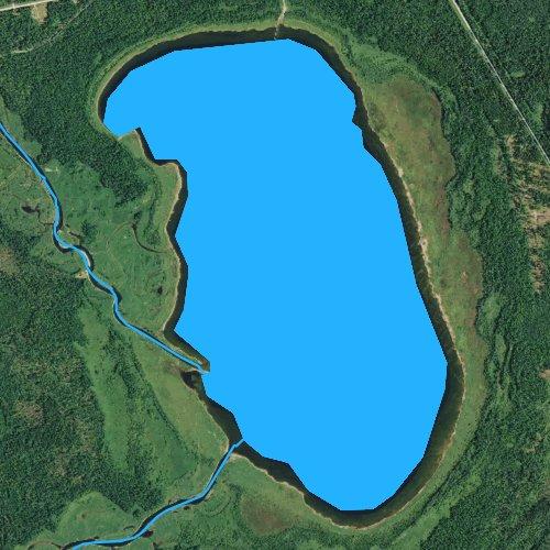 Fly fishing map for Little Winnibigoshish Lake, Minnesota