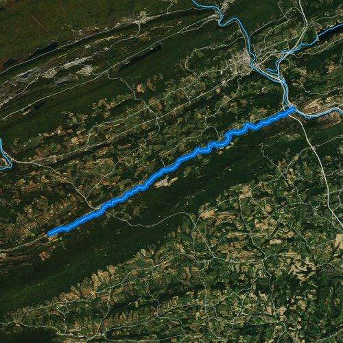 Fly fishing map for Lizard Creek, Pennsylvania