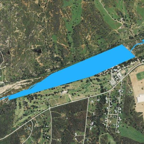 Fly fishing map for Llano Park Lake, Texas
