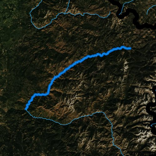 Fly fishing map for Lochsa River, Idaho