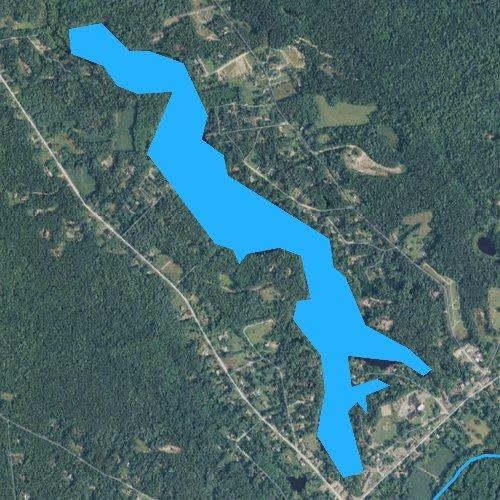 Fly fishing map for Locustville Pond, Rhode Island