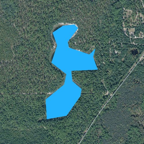 Fly fishing map for Lofton Pond, Florida