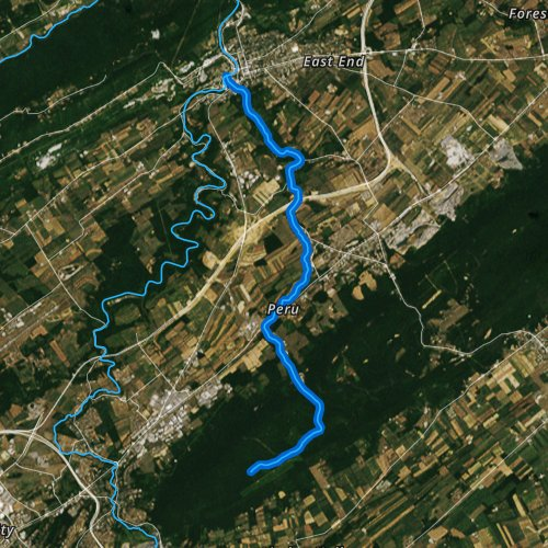 Fly fishing map for Logan Branch, Pennsylvania