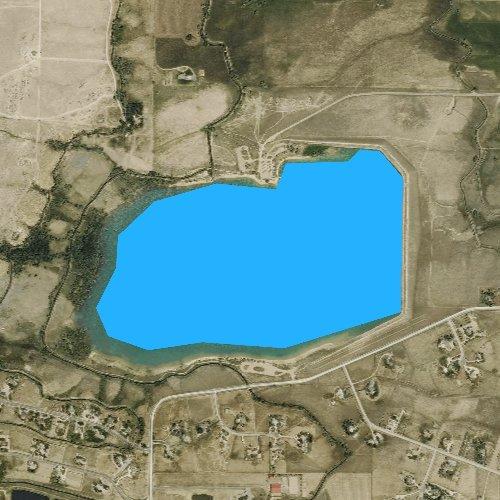 Fly fishing map for Lon Hagler Reservoir, Colorado