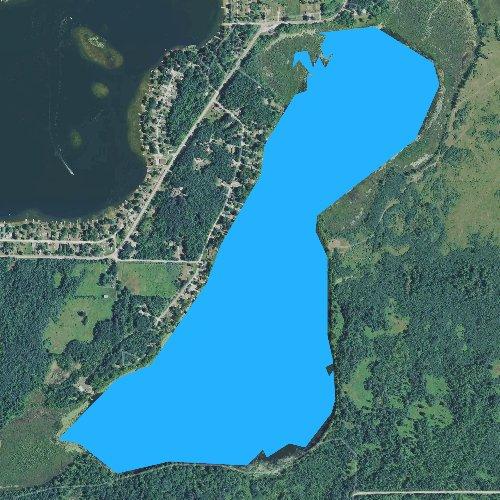 Fly fishing map for Londo Lake, Michigan