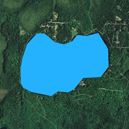 Fly fishing map for Lone Stone Lake, Wisconsin