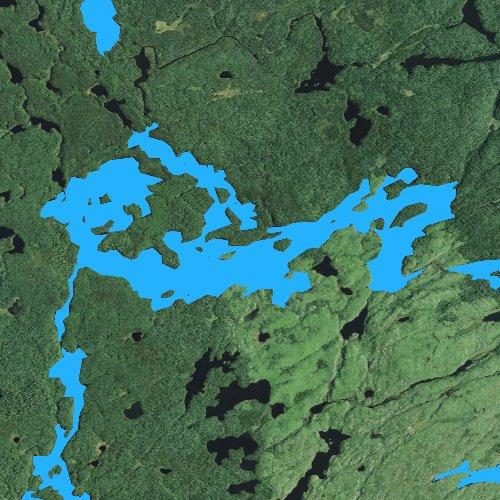 Fly fishing map for Long Island Lake, Minnesota