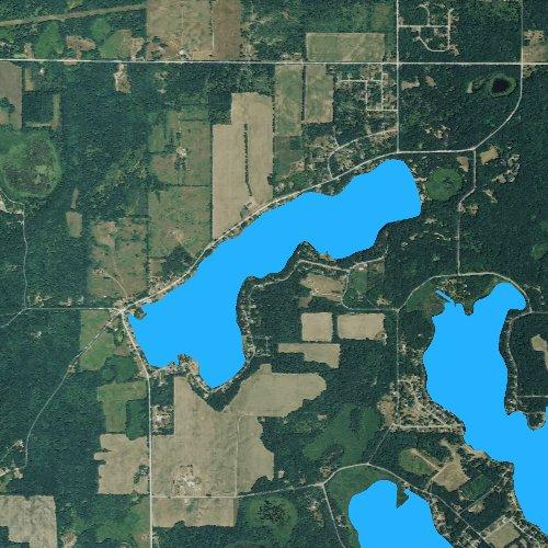 Fly fishing map for Long Lake: Cass, Michigan