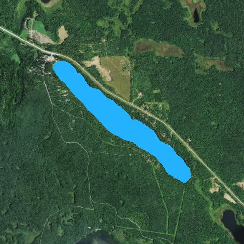 Fly fishing map for Long Lake: Clearwater, Minnesota