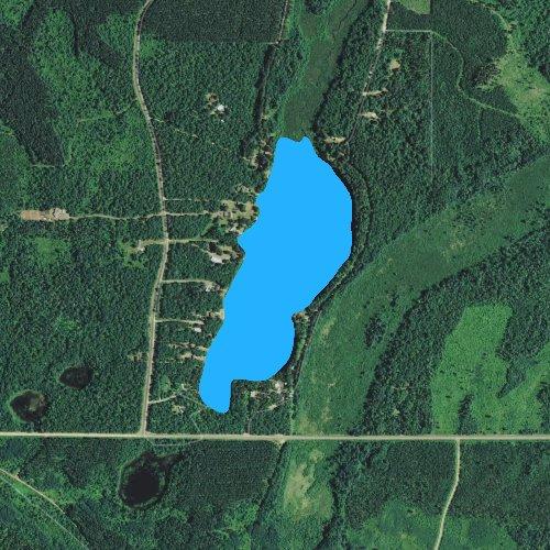 Fly fishing map for Long Lake: Douglas, Wisconsin