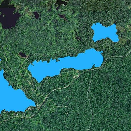 Fly fishing map for Long Lake: Gogebic, Michigan