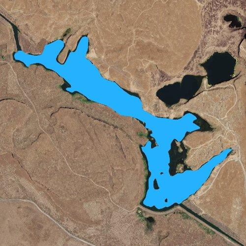 Fly fishing map for Long Lake: Grant, Washington