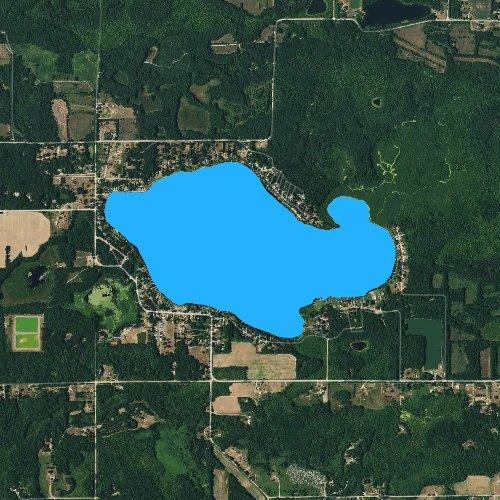 Fly fishing map for Long Lake: Ionia, Michigan