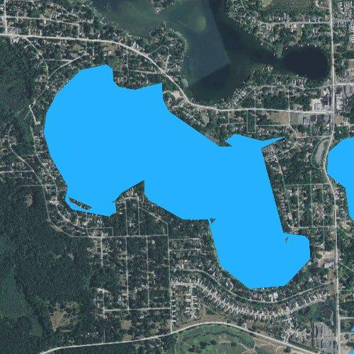 Fly fishing map for Long Lake, Michigan
