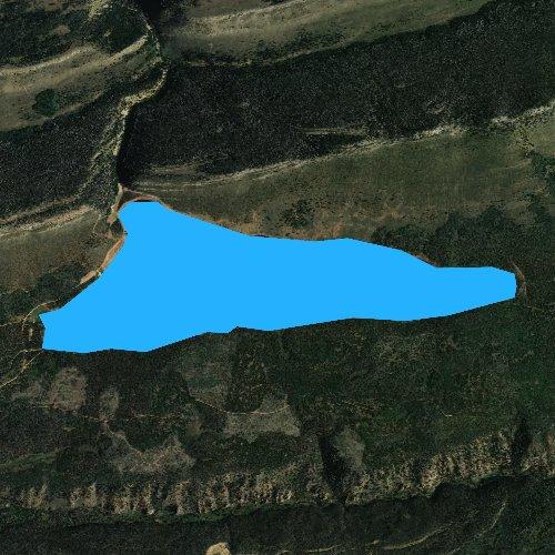 Fly fishing map for Long Park Reservoir, Utah