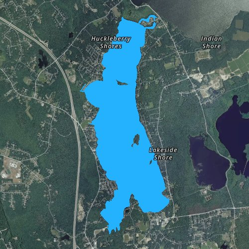Fly fishing map for Long Pond: Bristol, Massachusetts