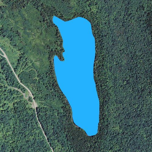 Fly fishing map for Long Pond: Coos, New Hampshire
