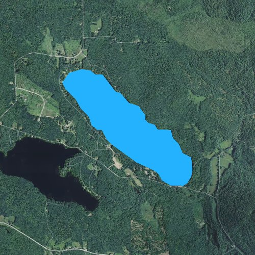 Fly fishing map for Long Pond, Maine