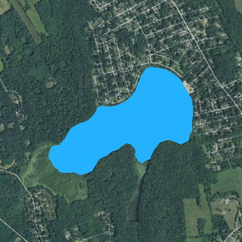 Fly fishing map for Long Pond: Middlesex, Massachusetts