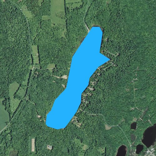 Fly fishing map for Long Pond, Pennsylvania
