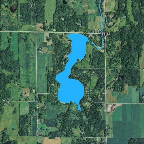 Fly fishing map for Long Trade Lake, Wisconsin