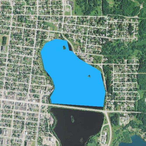 Fly fishing map for Longyear Lake, Minnesota