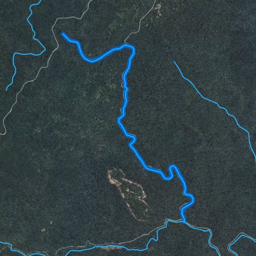Fly fishing map for Looking Glass Creek, North Carolina