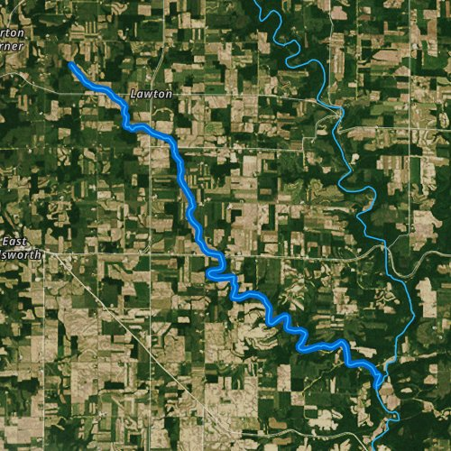 Fly fishing map for Lost Creek, Wisconsin