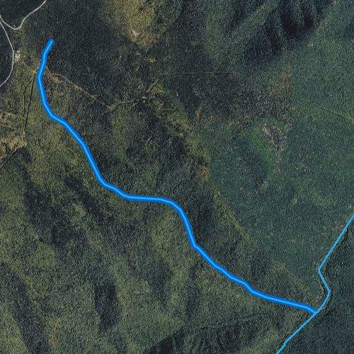 Fly fishing map for Lower Creek, North Carolina