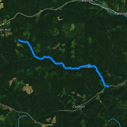 Fly fishing map for Lyman Run, Pennsylvania