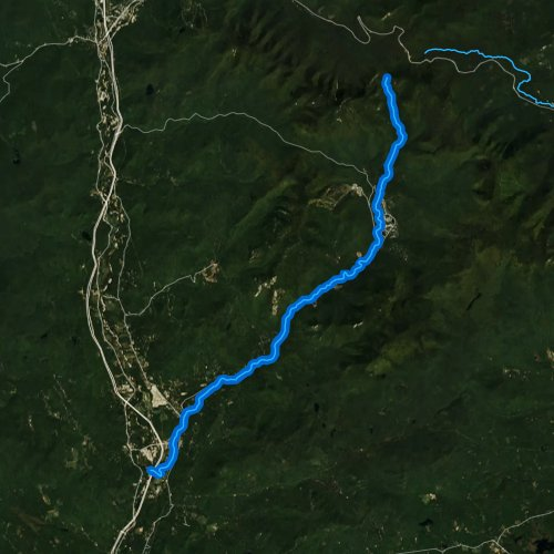 Fly fishing map for Mad River, New Hampshire