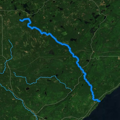 Fly fishing map for Manitou River, Minnesota