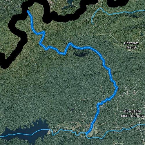 Fly fishing map for Matthews Creek, South Carolina