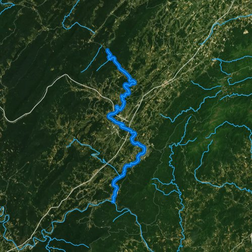 Fly fishing map for Maury River, Virginia
