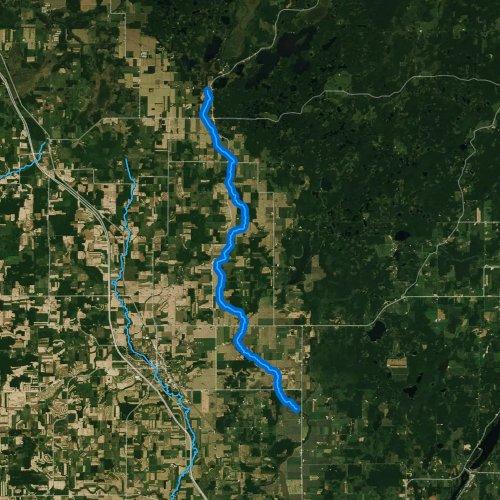 Fly fishing map for McCann Creek, Wisconsin